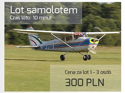 Lot widokowy samolotem