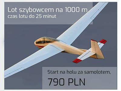 Lot szybowcem na 1000 metrów